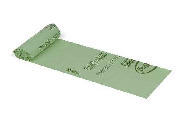 BioBag 30L-matavfallspase-komposterbar-biologiskt-nedbrytbar-papperskorgspase-187607