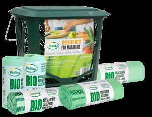 BioBag Bio Matavfallsprodukter - matavfallsposer - Biologisk nedbrytbare og komposterbare poser og MaxAir