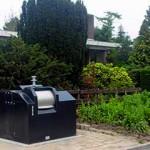Semi nedgravd avfallssystem