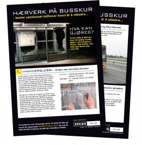 Busskur - Hærverk