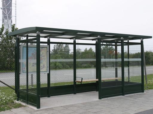 City busskur - Gaveldybde c/c 1420 mm.