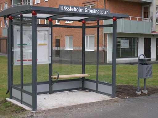 City busskur  - Fri takhøyde opp til 2195 mm.