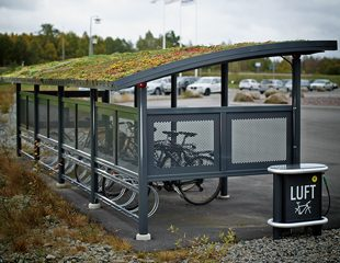 ZENZO MILJØ-Ymer sykkelskur-med sedum tak- sykkelparkering