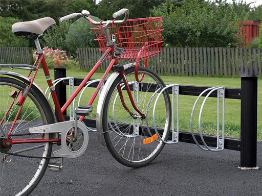 Bike sykkelstativ med hjulholder