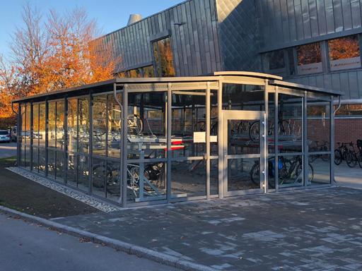 Funkis Trio 68-5 Sykkelhotell - 68 m2 - 80 sykkelplasser