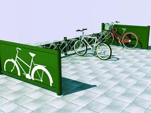 Velopark sykkelstativ - Illustrasjon