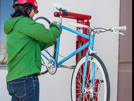 Dero Fixit servicestasjon for sykkel.