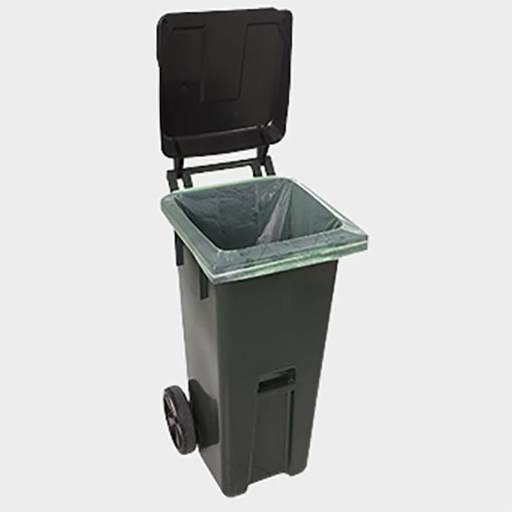 BioBag 140 liters avfallssäck som skydd i ditt sopkärl