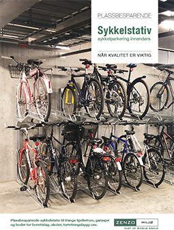 Plassbesparende sykkelstativ