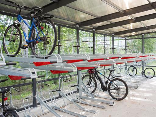 Passer perfekt der du ønsker dobbelt så mange sykler på en flate