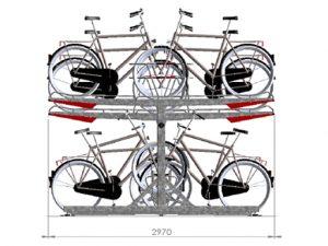 Zenzo Miljø - Sykkelprodukter - 2ParkUp sykkelstativ i to etasjer - tilvalg dobbel