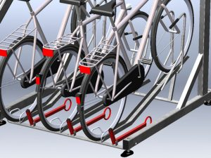 Zenzo Miljø - Sykkelprodukter - 2ParkUp sykkelstativ i to etasjer - tilvalg ekstra låsebøyle til nederste etasje