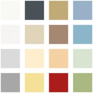 Standardfarger vegger - Avfallshus / Miljøhus