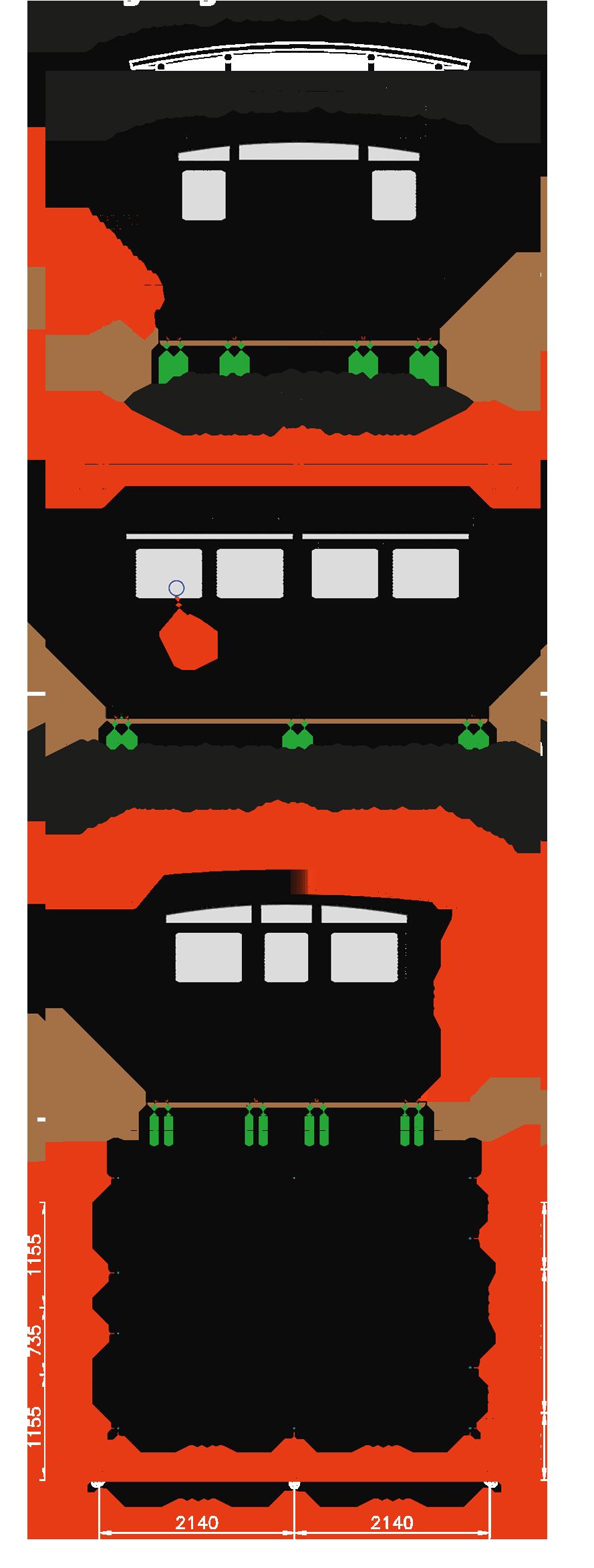 Zenzo Miljø -Tellus 30-2 Avfallshus - Miljøhus -tegning