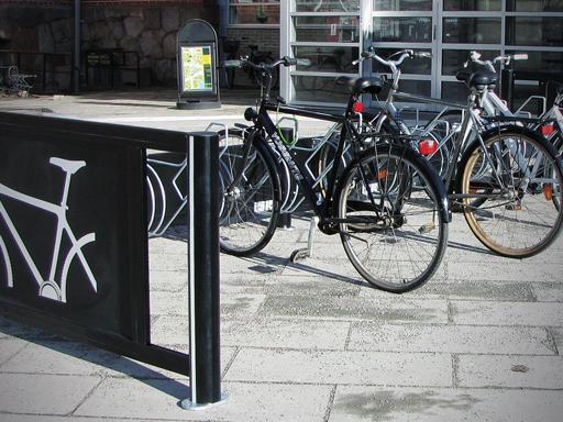 Velopark sykkelstativ i sort