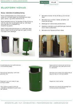 Novus avfallsbeholder - 2 sider