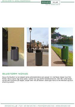 Novus avfallsbeholder - 4 sider
