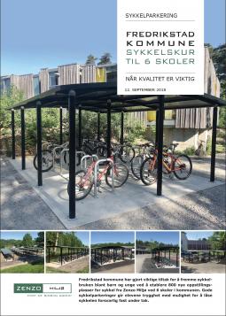 Sykkelskur til 6 skoler