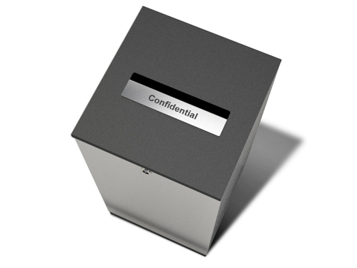 Edge er tilgjengelige med lokk som tilpasses avfallsfraksjonen.