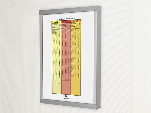 Informasjonstavler for starttider, slope m.m