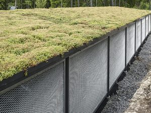 Zenzo Miljø - leskur - Carport - Autone strekkmetall - Sedum tak 2