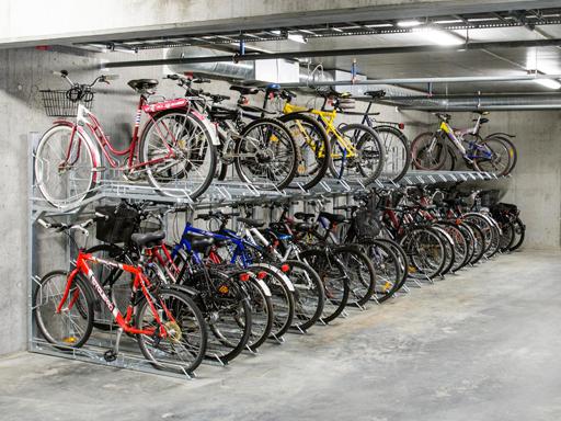2 etasjers sykkelparkering TH2 - Plassbesparende