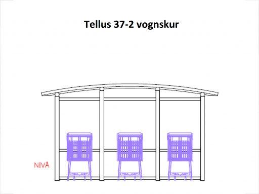 Tellus 37-2 handlevognskur m/glassvegger. (se tegn. under dokum.)