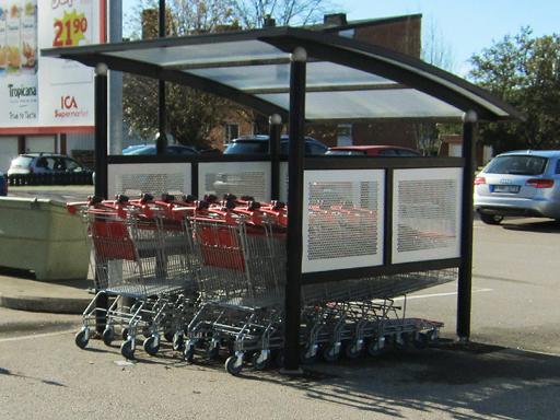 Handlevognskur til shoppingsentre, matbutikker og andre butikker.