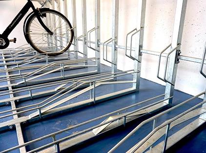 Zenzo Miljø - nyheter 2019 - 2 etasjer sykkelparkering Th2 skinner2