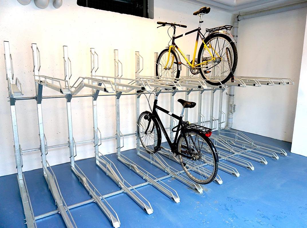 Zenzo Miljø - nyheter 2019 - 2 etasjer sykkelparkering Th2