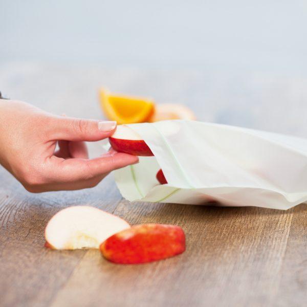 BioBag matpakkepose med lynlås - Eple
