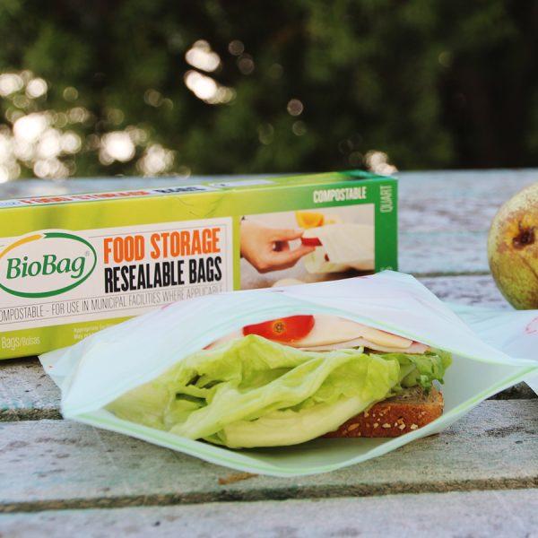 Biobag - matpakkepose i bio - Lynlås