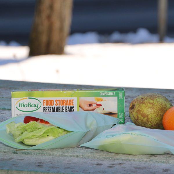 Biobag - matpakkepose i bio - Lynlås -komposterbar 2
