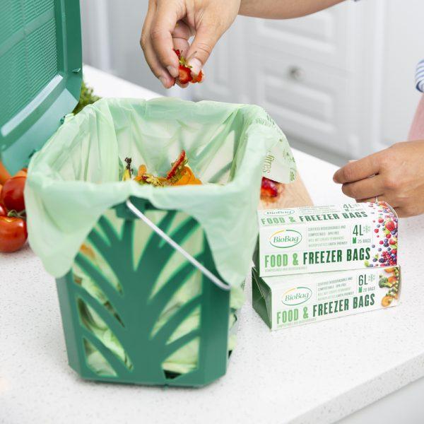 BioBag komposterbare Fryseposer miks med 4L og 6L-Biologisk nedbrytbare og komposterbare fryseposer-Kjøkken-MaxAir
