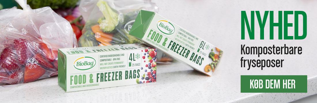 Komposterbare og bionedbrydelige fryseposer