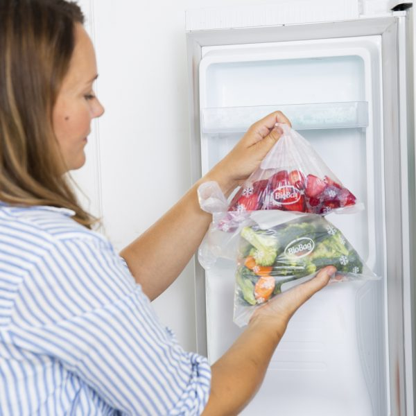 Bionedbrydelige og komposterbare fryseposer