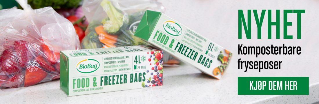 Komposterbare fryseposer 4 og 6 liter -Banner