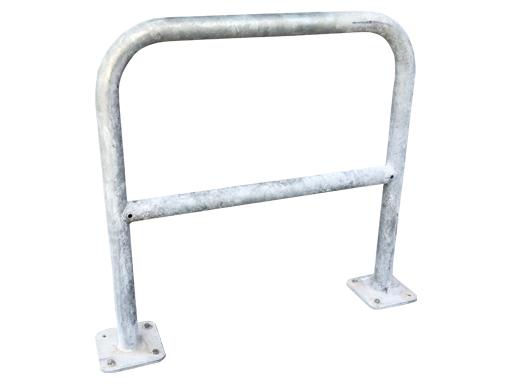 A-stativ sykkelstativ gir stor kontaktflate mot sykkelens ramme og hjul.