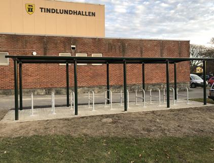 Zenzo-Miljo-sykkelprodukter-sykkelparkering-A-stativ-sykkelstativ-Tindlundhallen