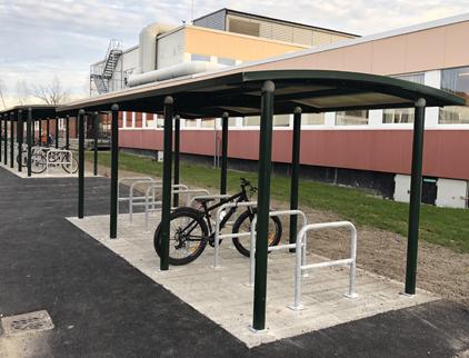 Zenzo-Miljo-sykkelprodukter-sykkelparkering-A-stativ-sykkelstativ-skole